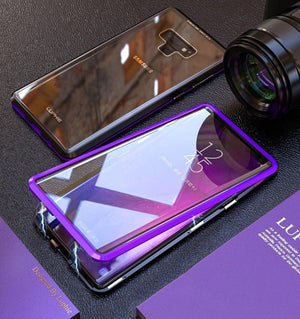 Galaxy Note 9 Electronic Auto-Fit (Front+ Back) Glass Magnetic Case