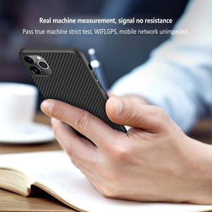 iPhone 12 Pro Max Synthetic Carbon Fiber Case
