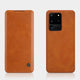 Galaxy S20 Ultra Genuine QIN Leather Flip Case
