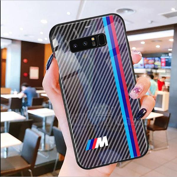 Galaxy Note 8 3D Carbon Fiber Pattern Glass Case