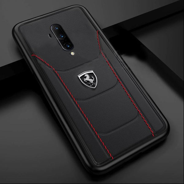 Ferrari ® OnePlus 7T Pro Genuine Leather Crafted Limited Edition Case