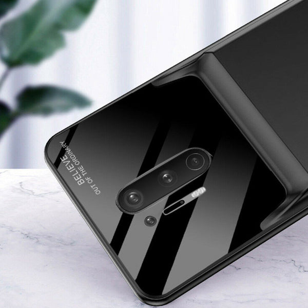 OnePlus 8 Series (3 in 1 Combo) Portable 5000 mAh Battery Shell Case + Tempered Glass + Camera Lens Guard