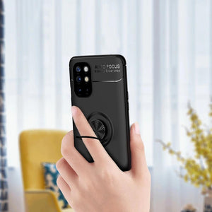 OnePlus 8T Metallic Finger Ring Holder Matte Case