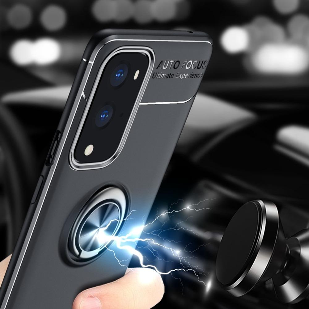 Load image into Gallery viewer, OnePlus 9 Pro Metallic Finger Ring Holder Matte Case