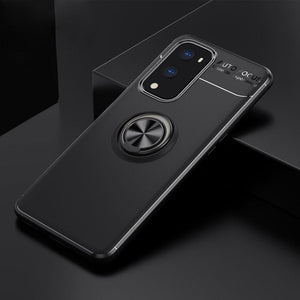 OnePlus 9 Pro Metallic Finger Ring Holder Matte Case