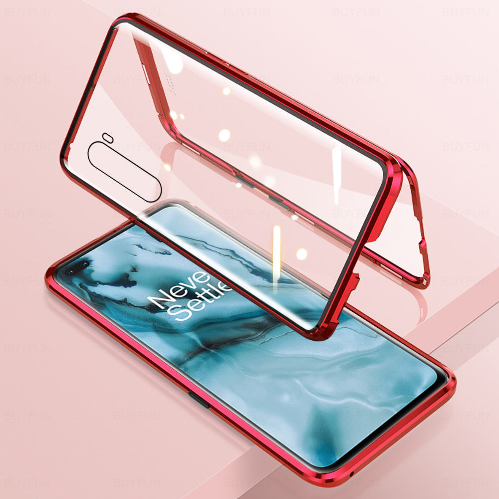 OnePlus Series Electronic Auto-Fit (Front+ Back) Glass Magnetic Case