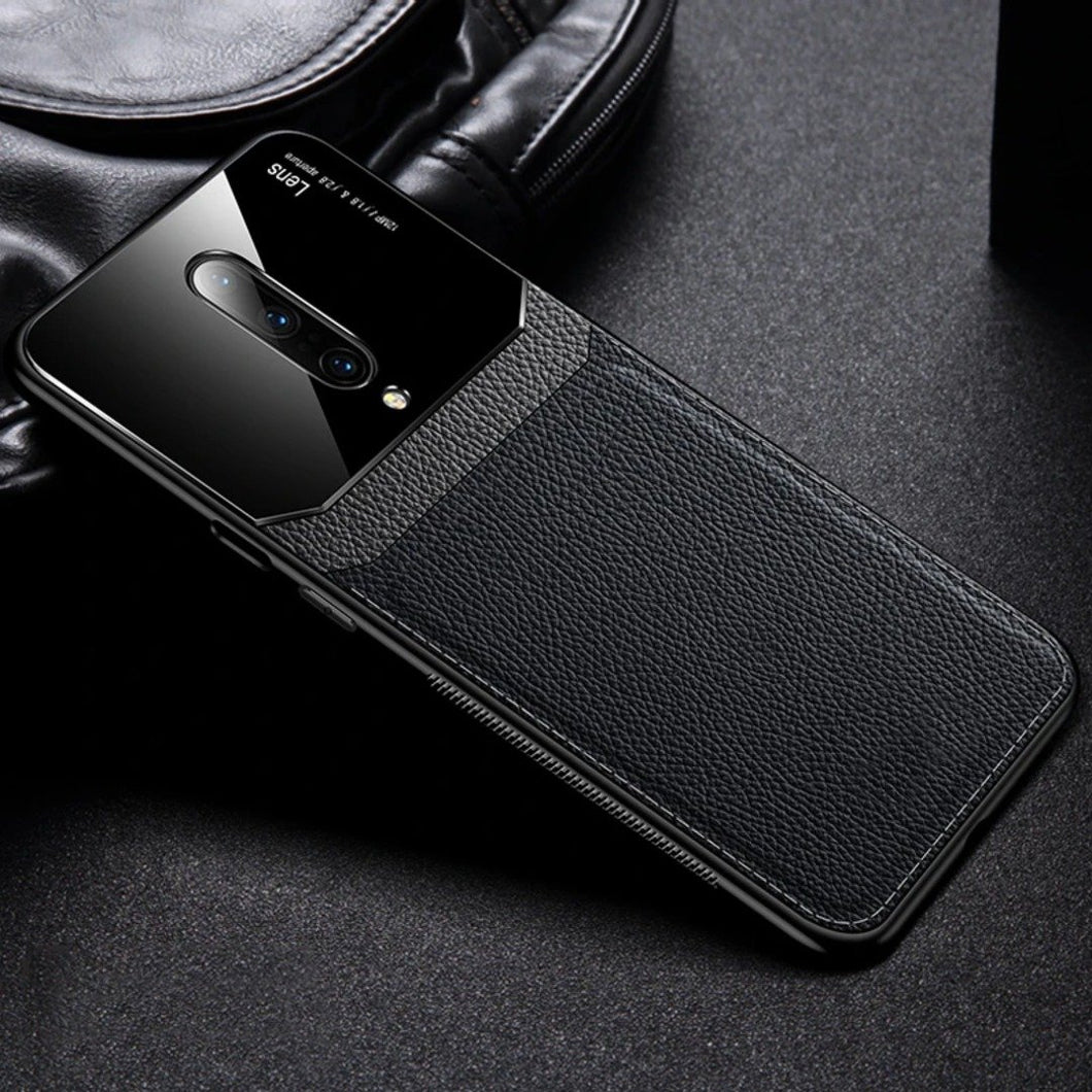 OnePlus 8 Sleek Slim Leather Glass Case