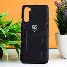 Load image into Gallery viewer, Ferrari ® OnePlus Nord Genuine Leather Crafted Limited Edition Case