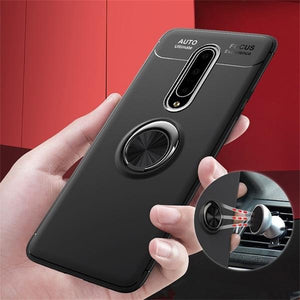 Load image into Gallery viewer, OnePlus 7 Pro Metallic Finger Ring Holder Matte Case