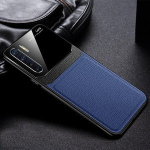 OnePlus Nord Sleek Slim Leather Glass Case
