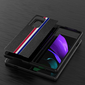 Galaxy Z Fold2 Luxury Leather Foldable Case