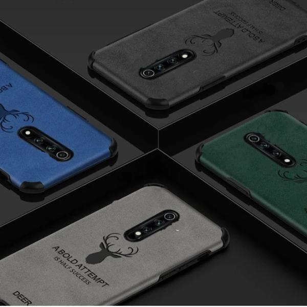 Oppo F11 Pro Shockproof Deer Leather Texture Case