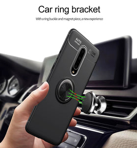 OnePlus 7 Pro Metallic Finger Ring Holder Matte Case