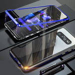 Galaxy S10 Electronic Auto-Fit Magnetic Glass Case