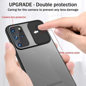 Load image into Gallery viewer, Galaxy S20 Plus Camera Lens Slide Protection Matte Case