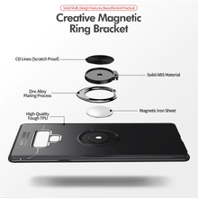 Load image into Gallery viewer, Galaxy Note 9 Metallic Finger Ring Holder Matte Case