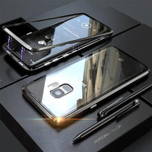 Load image into Gallery viewer, Galaxy S9 Electronic Auto-Fit Magnetic Transparent Glass Case