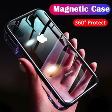 Load image into Gallery viewer, iPhone XS Max Electronic Auto-Fit (Front+ Back) Glass Magnetic Case