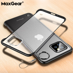 iPhone 11 Series (3 in 1 Combo) Frameless Transparent Case + Tempered Glass + Camera Lens Guard