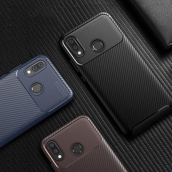 Galaxy A20 Frosted Carbon Fiber Shockproof Soft Case