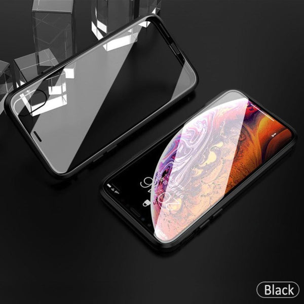 iPhone XR Electronic Auto-Fit (Front+ Back) Glass Magnetic Case