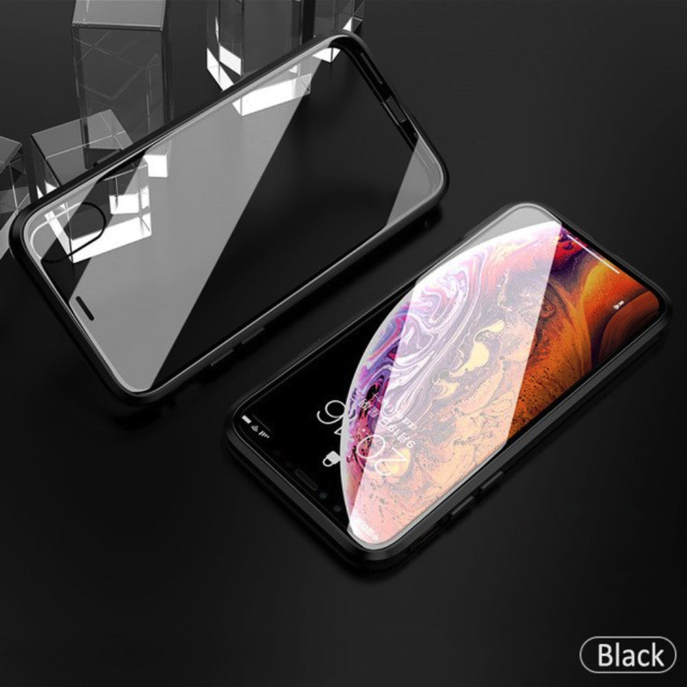 iPhone X/XS Electronic Auto-Fit (Front+ Back) Glass Magnetic Case
