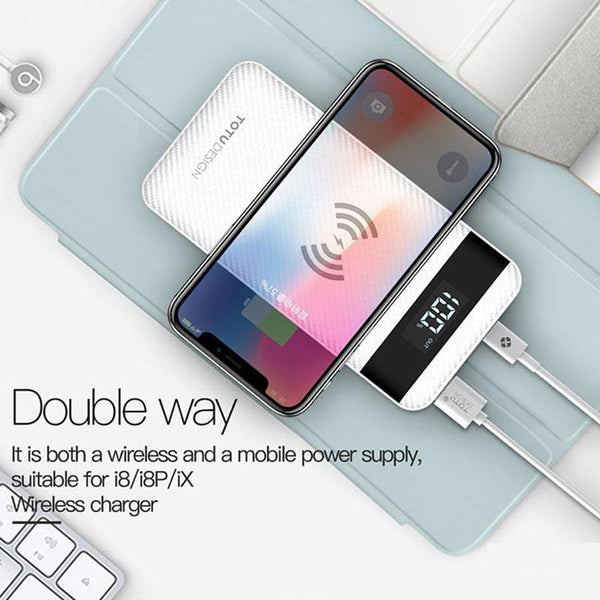 TOTU Design 10000 mAh  Dual USB Wireless Charger/Power Bank
