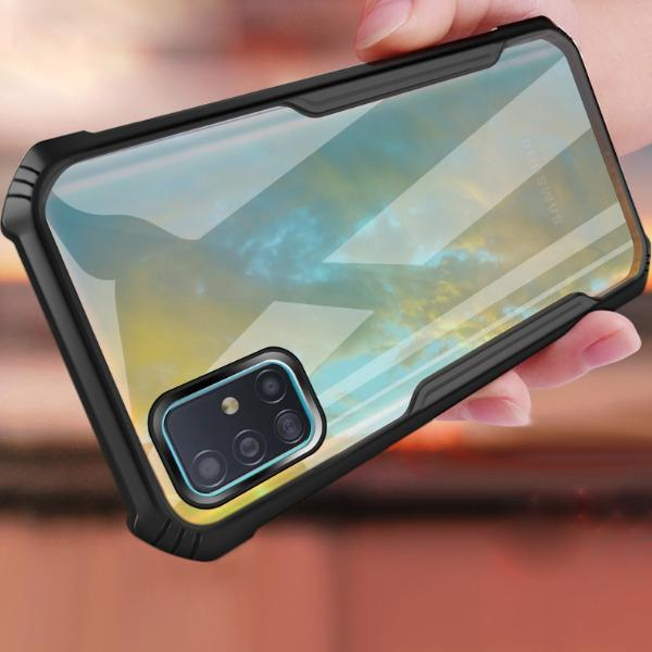 Galaxy A71 Shockproof Transparent Back Eagle Case