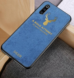 Galaxy A70s Luxury Gold Textured Deer Pattern Soft Case