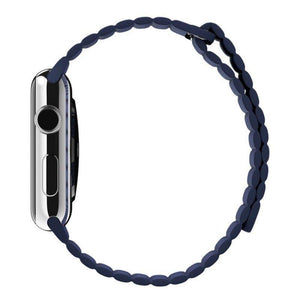 Blue Leather Loop Strap 42mm for Apple Watch  (ONLY STRAP NOT WATCH)