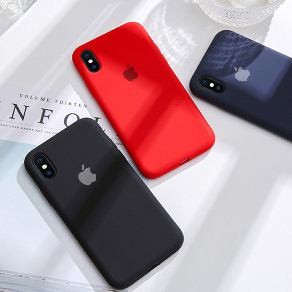 iPhone Series Liquid Silicone Logo Case