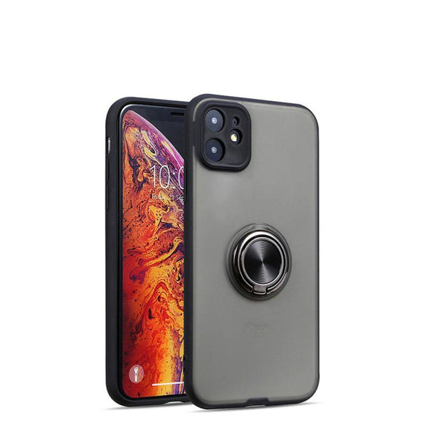 Shockproof Translucent Ring Case Cover For iPhone 11 Pro Max