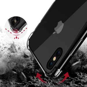 MK ® iPhone X King Kong Anti Shock TPU Transparent Case