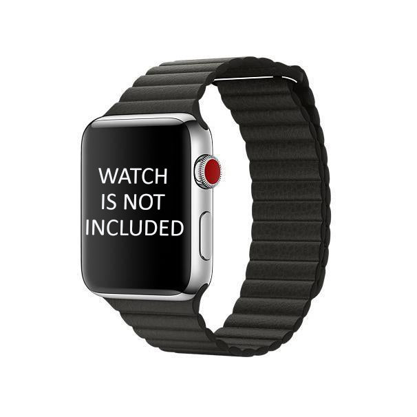Black Leather Loop Strap 42mm for Apple Watch (ONLY STRAP NOT WATCH)