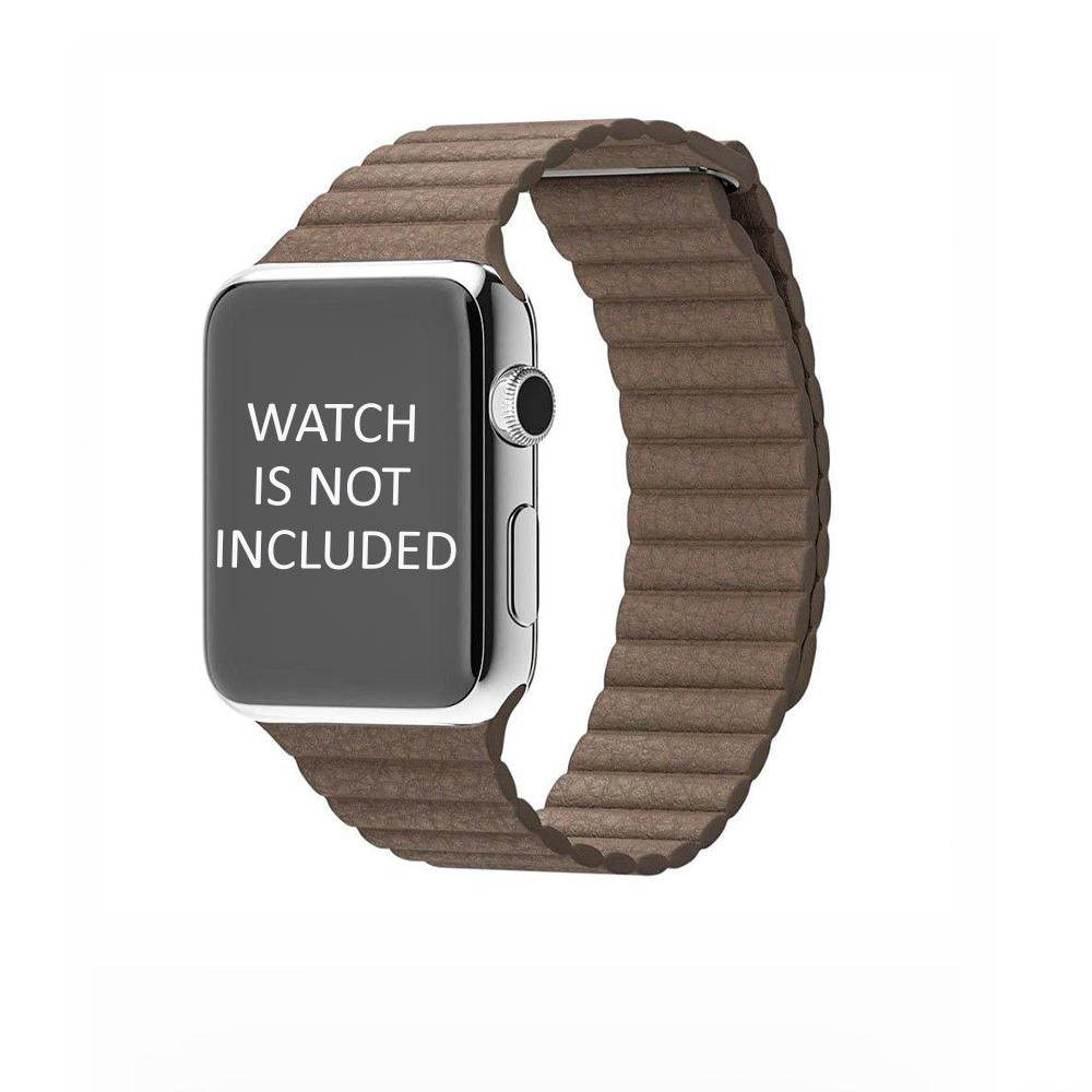 Brown Leather Loop Strap 42mm for Apple Watch (ONLY STRAP NOT WATCH)