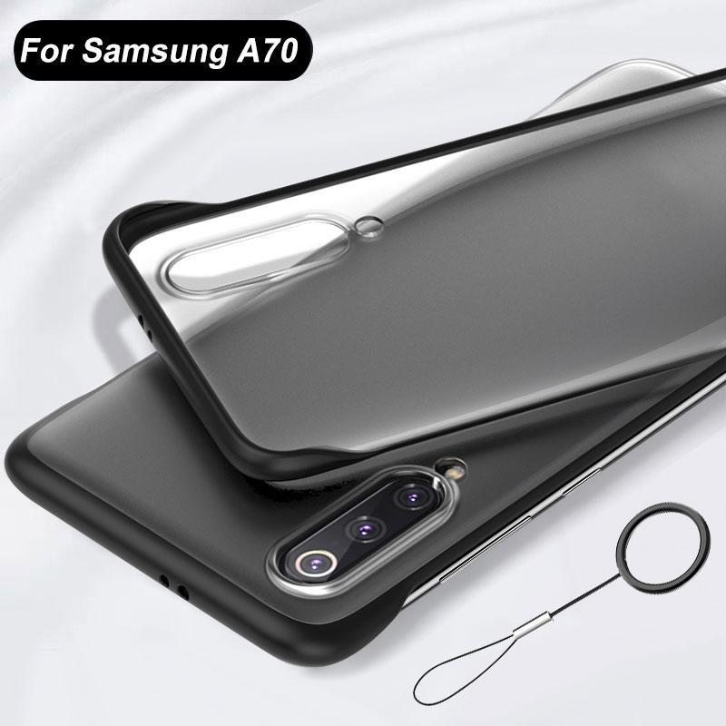 Galaxy A70 Luxury Frameless Transparent Case