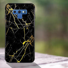 Load image into Gallery viewer, Galaxy Note 9 Gold Dust Texture Marble Glass Case