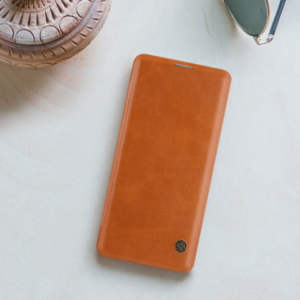 Galaxy S10 Genuine QIN Leather Flip Case