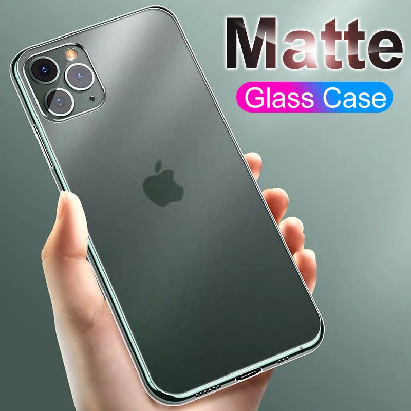 Soft Edge Matte Finish Glass Case Cover For iPhone 11 Pro Max