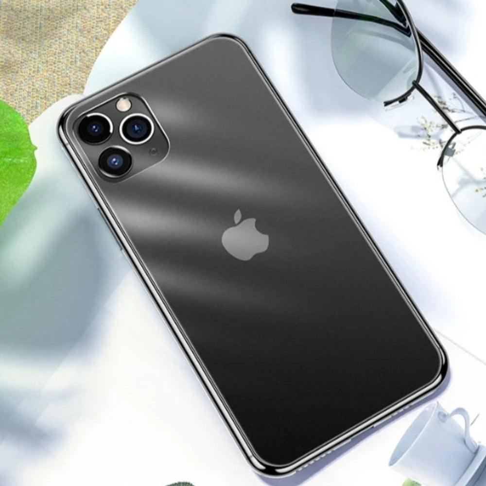 iPhone 11 Series (3 in 1 Combo) Matte Finish Glass Case + Tempered Glass + Camera Lens Guard