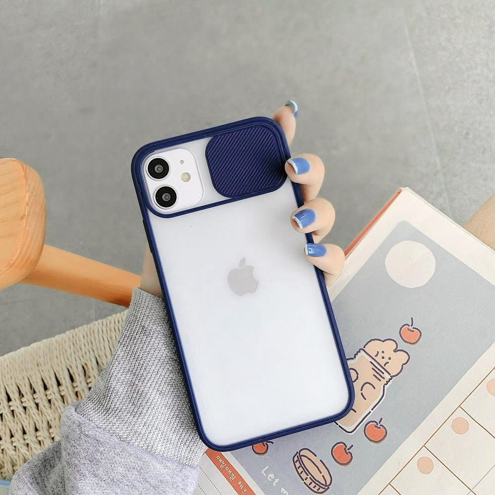 iPhone 12 Mini Camera Lens Slide Protection Matte Case