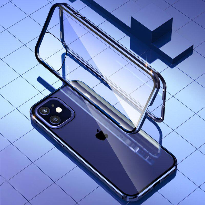 iPhone 12 Electronic Auto-Fit (Front+ Back) Glass Magnetic Case