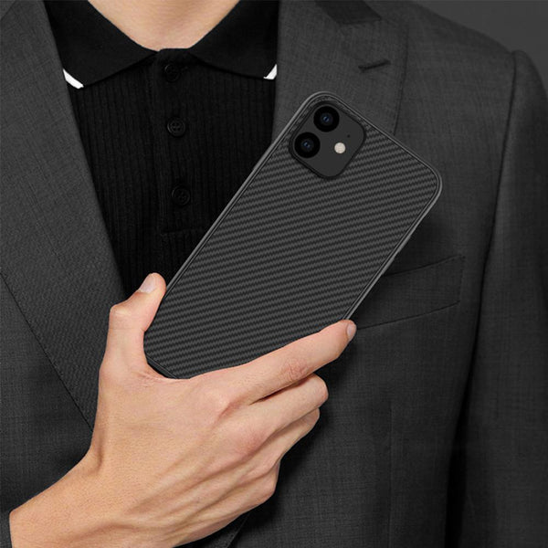 Henks ® iPhone 12 Synthetic Carbon Fiber Case