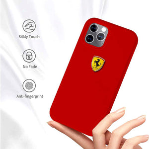 Ferrari ® iPhone 12 Pro Rigid Smooth Sleek Silicone Case