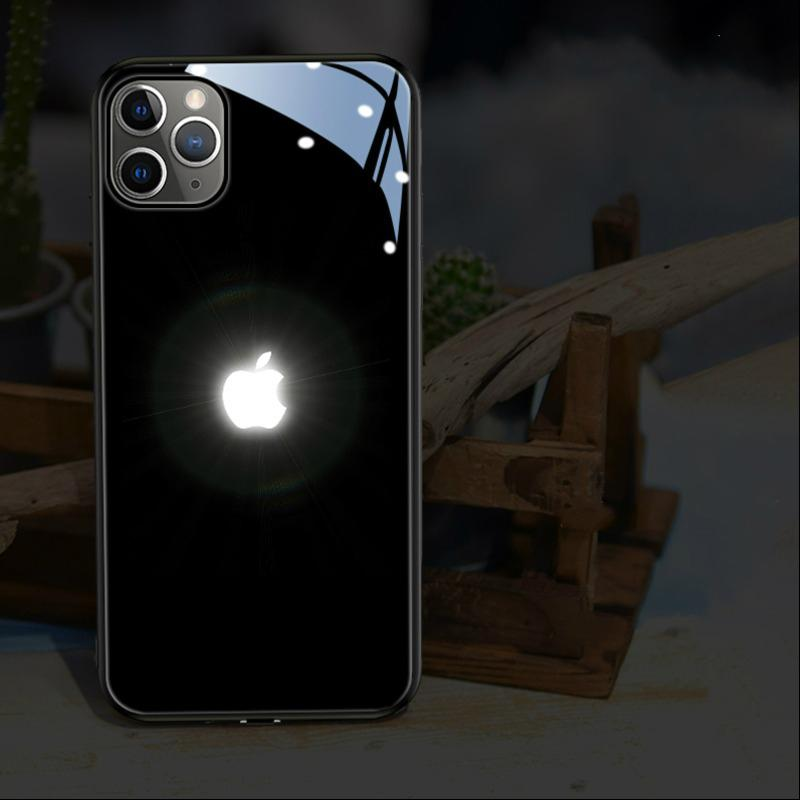 iPhone 12 Series LED Logo Glass Back Case