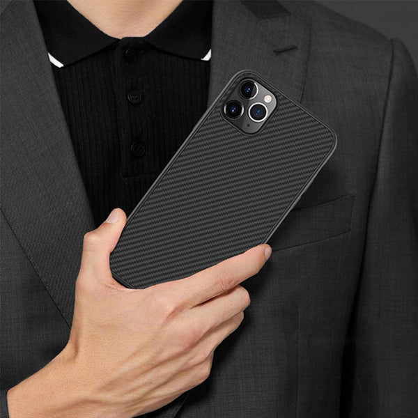 Henks ® iPhone 12 Pro Max Synthetic Carbon Fiber Case