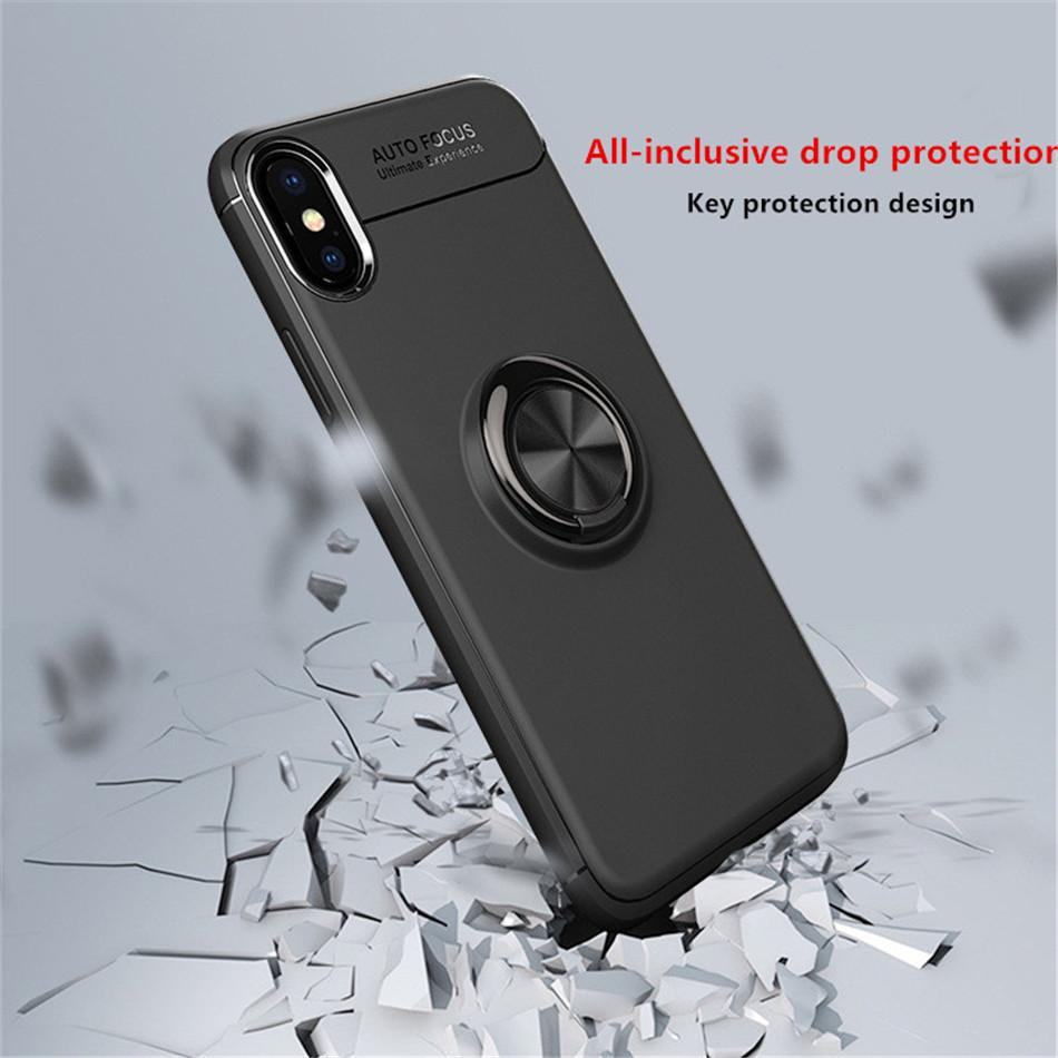Load image into Gallery viewer, iPhone XS Max Metallic Finger Ring Holder Matte Case