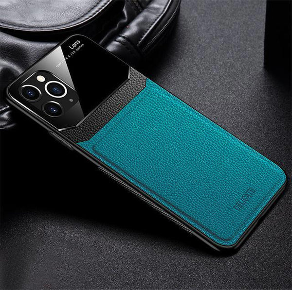 iPhone 11 Sleek Slim Leather Glass Case
