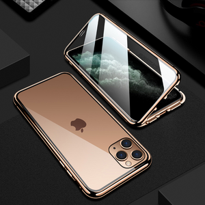 iPhone 11 Series Electronic Auto-Fit Double Glass Magnetic Case