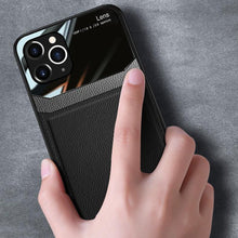Load image into Gallery viewer, iPhone 11 Pro Sleek Slim Leather Glass Case